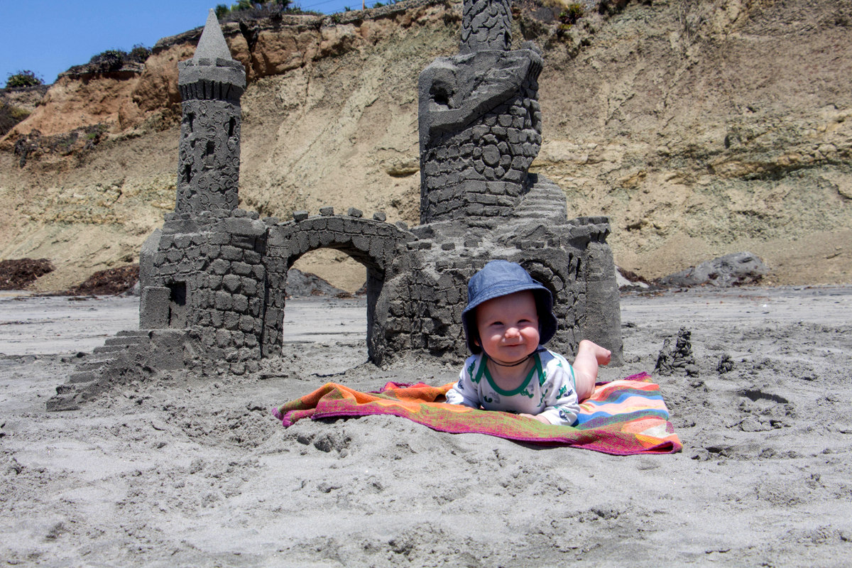 Sand Castle on Del Mar Beach